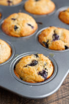 Blueberry Angel Food Muffins