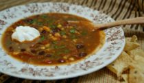 Black Bean with Chipotle Chile Soup