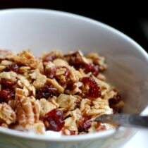 Granola with Dried Cranberries