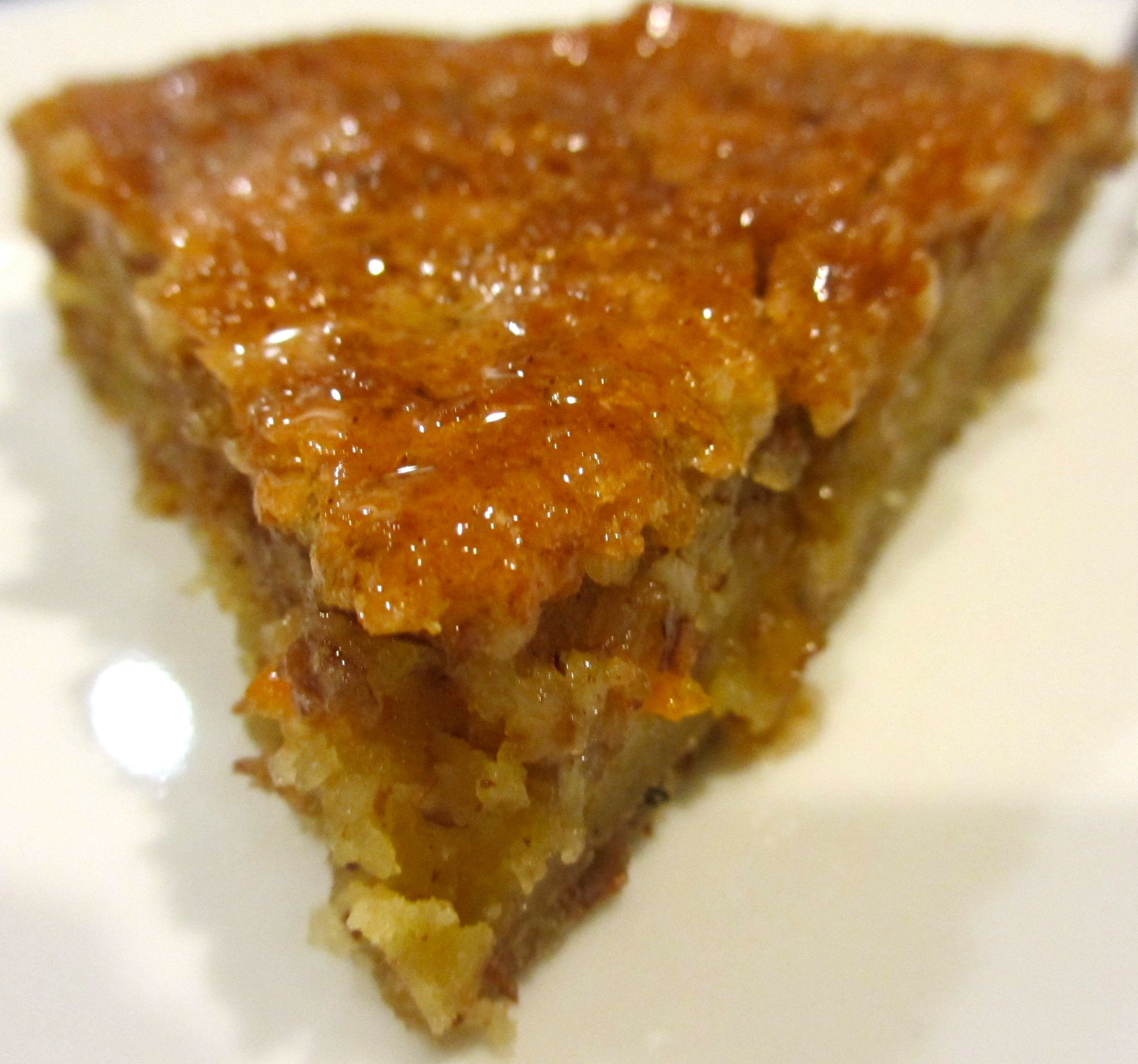 Passover Honey Nut Cake in Soaking Syrup