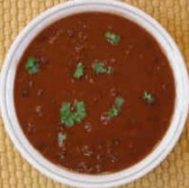 Spicy Orange Black and Pinto Bean Soup