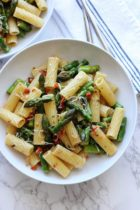 Penne with Sun-Dried Tomatoes and Asparagus